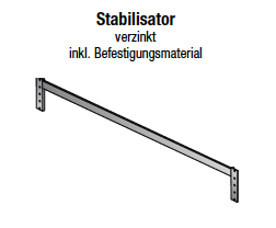 Stabilisator, verzinkt