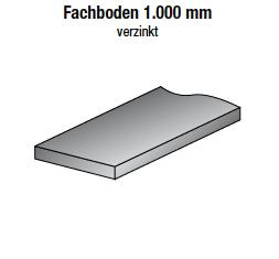 Fachboden 1000 x 200 mm, verzinkt