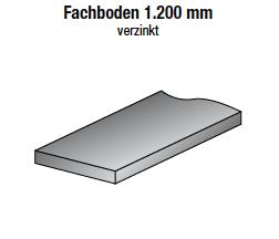 Fachboden 1200 x 200 mm, verzinkt